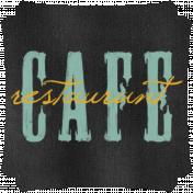 Kitchen Chalkboard Cafe Restaurant