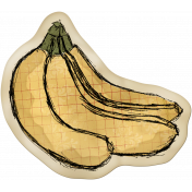 Kitchen Sticker Bananas Stained