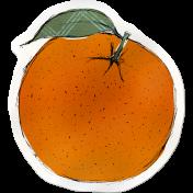 Kitchen Sticker Orange