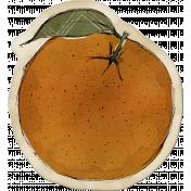 Kitchen Sticker Orange Stained