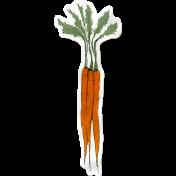 Kitchen Sticker Carrots