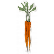 Kitchen Sticker Carrots