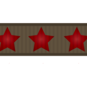 Apples Ribbon Brown Stars