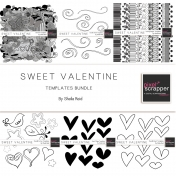 Sweet Valentine Templates Bundle