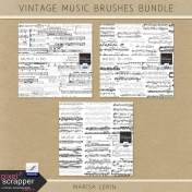 Vintage Music Brushes Bundle