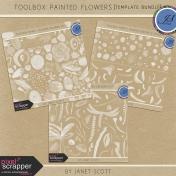 Toolbox Painted Flowers- Template Bundle