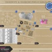 Raindrops & Rainbows- Template Bundle