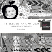 It's Elementary, My Dear- Paper Overlays and Templates Bundle