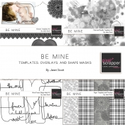 Be Mine- Template, Overlay, and Shape Mask Bundle
