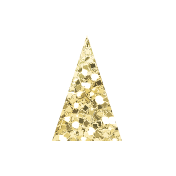 Amity Gold Glitter Bunting Banner 03