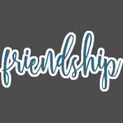 """Amity Wordart Sticker """"Friendship"""""""