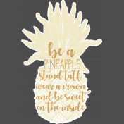 Celine Pineapple Wordart 03