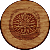 ::Pearl:: Wooden Flair with Compass.