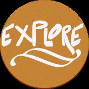"::Pearl:: Wordart ""explore"""
