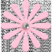 ::Xanthe:: Pink Chipboard Flower