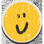 ::Kids Ahead Kit:: Chipboard Happy Face Flair