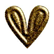 ::Minerva Kit:: Gold Plastic Heart
