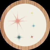 ::Retro Holly Jolly Kit:: Retro Circle Sticker