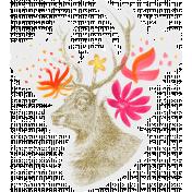 ::Bohemian Rhapsody Kit:: Stag Head w/ Flowers