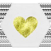 ::Renaissance Faire Kit:: Hexagon w/ Heart Tag