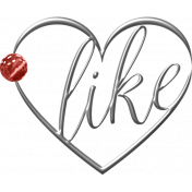 ::Fall in Love Kit:: Metal Heart Charm