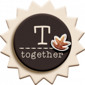 """::Fall in Love Kit:: Layered Chipboard """"Together"""" Badge"""