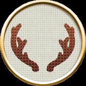 ::Holiday Magic Kit:: Cross-Stitch Antlers