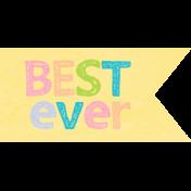 Sadie Camille Kit: Best Ever Wordart