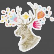 Bianca Romy Kit: Stag & Flower Sticker
