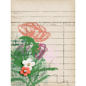 Rebecca Kit: Library Card w/ flowers