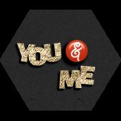"Rebecca Kit: ""You & Me"" Wordart"