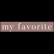 "Rebecca Kit: ""My Favorite"" Wordart"