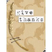 Harvest Time: Filler Card