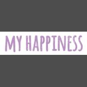 Serenella: Elements: WA My Happiness