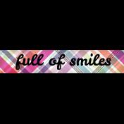 Felicity: WA Full of Smiles