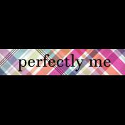 Felicity: WA Perfectly Me