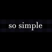 Felicity: WA So Simple