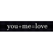 Felicity: WA You+Me=Love
