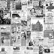 Halloween Vintage Newspaper Ads Background Paper
