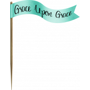 Turquoise Grace Upon Grace Flag