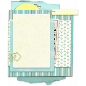 Turquoise Yellow Frame Cluster