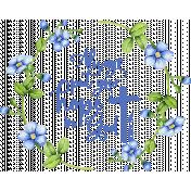 Hope Bible Verse in Blue Flower Wreath