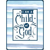 Navy Blue & Aqua Child of God Pocket Card