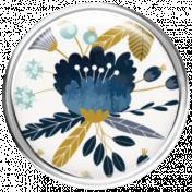 Navy Blue & Aqua Floral Brad 1