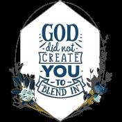 Navy Blue & Aqua Scripture in Frame