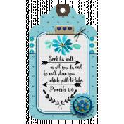 Aqua Navy Bible Verse Tag Proverbs 3:6