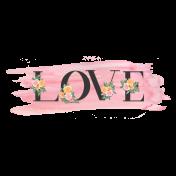 Pink & Orange Love Word Art