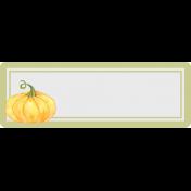 Grateful Label with Pumpkin