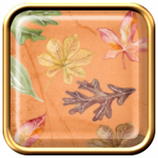Grateful Square Flair with Autumn Leaves