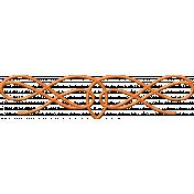 Orange Ceramic Ornamental Scroll Embellishment
